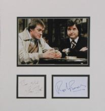 The Likely Lads Autograph Signed Display